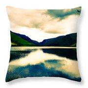 Talyllyn Lake Snowdonia Throw Pillow