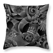 Tapestry Of Gods - Tlaloc Throw Pillow