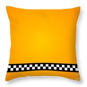 Taxi Background Throw Pillow