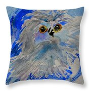 Teacup Owl Throw Pillow