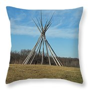 Tee Pee Throw Pillow