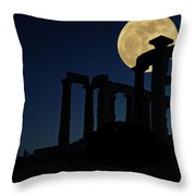 Temple Of Poseidon  Throw Pillow by Emmanuel Panagiotakis
