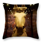 Terracotta Soldiers. The Horse Throw Pillow