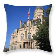 Terre Haute Indiana - Courthouse Throw Pillow