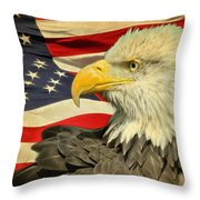 The American Eagle Throw Pillow