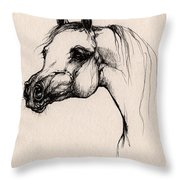 The Arabian Horse Throw Pillow