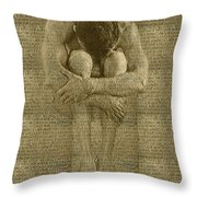 The Artist Throw Pillow