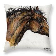 The Bay Horse Throw Pillow