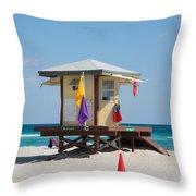 The Beach In Hollywood Florida Throw Pillow