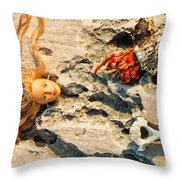The Beauty And The Beast Throw Pillow
