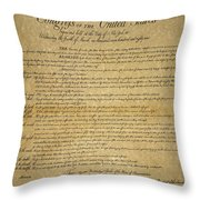 The Bill Of Rights, 1789 Throw Pillow