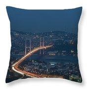 The Bosphorus Bridge  Throw Pillow
