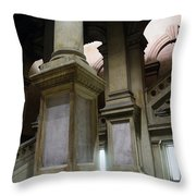 The Bowels Of City Hall Throw Pillow