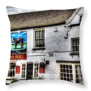 The Bull Pub Theydon Bois Essex Throw Pillow