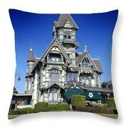 The Carson Mansion Throw Pillow
