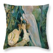 The Cherry Picker  Throw Pillow