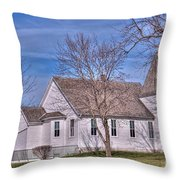 The Church At The Site Of The Old Confederate Soldiers Home Throw Pillow