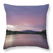 The Clouds Glow Throw Pillow