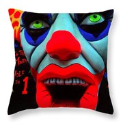The Clown Throw Pillow