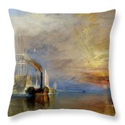 The Fighting Temeraire Throw Pillow
