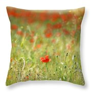 The First Poppy Of The Field Throw Pillow