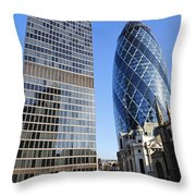 The Gherkin Building In London England Throw Pillow