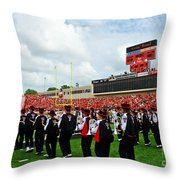The Going Band From Raiderland Throw Pillow by Mae Wertz