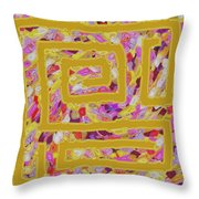 The Golden Road Throw Pillow