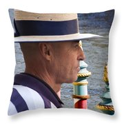 The Gondolier Throw Pillow