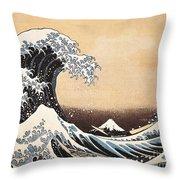 The Great Wave Of Kanagawa Throw Pillow