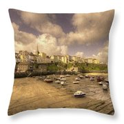 The Harbour At Tenby  Throw Pillow