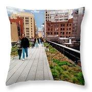 The High Line Urban Park New York Citiy Throw Pillow