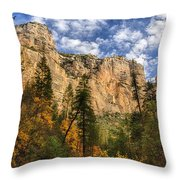 The Hills Of Sedona  Throw Pillow