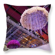 The International Orchid Show In Taiwan Throw Pillow