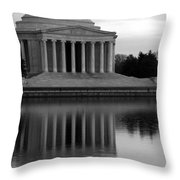 The Jefferson Memorial Throw Pillow by Cora Wandel