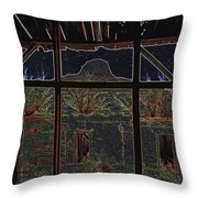 The Lonely Trail Homage 1936 Cabezon Peak Ghost Town Cabezon New Mexico 1971 Throw Pillow