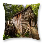 The Mill At Cades Cove Throw Pillow