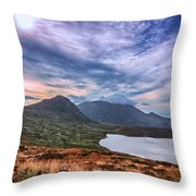The Mourne Mountains Throw Pillow
