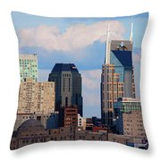 The Nashville Skyline As Viewed Throw Pillow