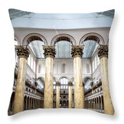 The National Building Museum In Washington Dc Usa Throw Pillow