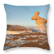 The Rabbit Stone Formation In White Desert Throw Pillow