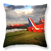 The Red Arrows  Throw Pillow