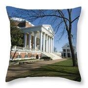 The Rotunda On The Lawn Throw Pillow
