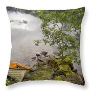 The Rowing Boat Throw Pillow