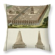 The Seven Wonders Of The World Throw Pillow