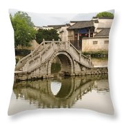 The South Lake In Hongcun Village Throw Pillow