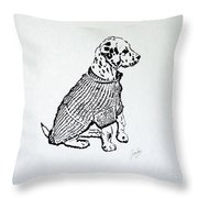 The Sweater Girl Throw Pillow