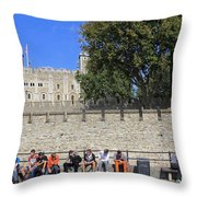 The Tower Of London Throw Pillow