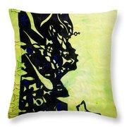 The Wise Virgin Throw Pillow