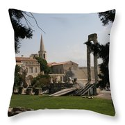 Theatre Antique  Arles Throw Pillow